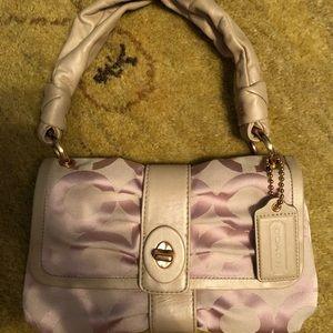 Coach Handbag Pink Parker Pop Art Serial #13408